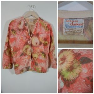 Angora 1950s cardigan french Hand Screen sweater